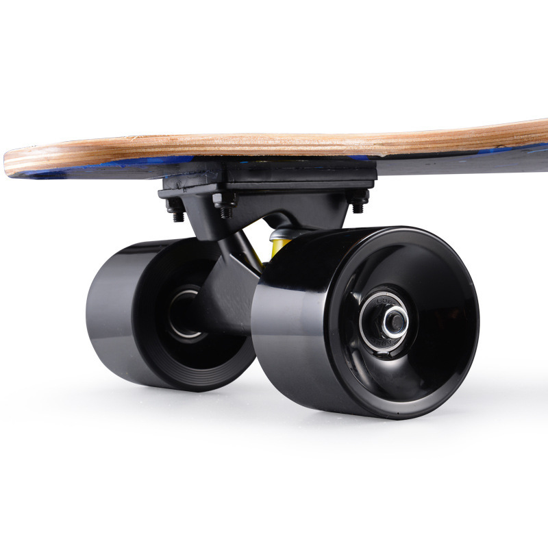 "Image 5 - 31"" Adult Kids Mini Complete Longboard Skateboard Maple Wood Deck Skate Board Mini Street Dancing Longboard-in Skate Board from Sports & Entertainment"