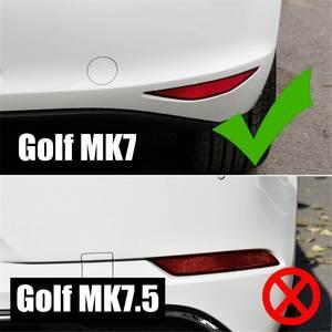 Image 2 - Paar Auto Achterbumper Splitter Canard Voor Vw Golf 7 MK7 Gti R Gtd 2012 2013 2014 2015 Niet Voor golf 7.5 Mk 7.5 Fog Lamp Light Trim