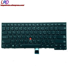 Backlit Keyboard Thinkpad Notebook T440 01AX315 Laptop Arabic Lenovo New Standard T450