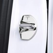 couvercle de la serrure de la porte de voiture voiture Styling Auto Emblèmes modèle Tesla 3 cas pour le modèle X Y modèle Roadster Accessoires