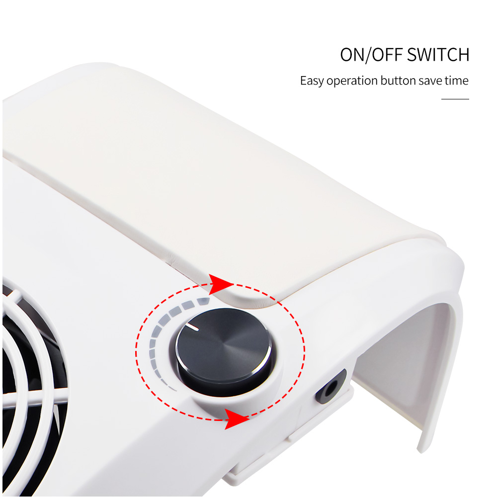 Image 2 - 60W Nail Dust Suction Collector Manicure Salon Tools Vacuum Cleaner with Powerful Fan Dust Collecting Bag Nail Art Equipment-in Nail Art Equipment from Beauty & Health