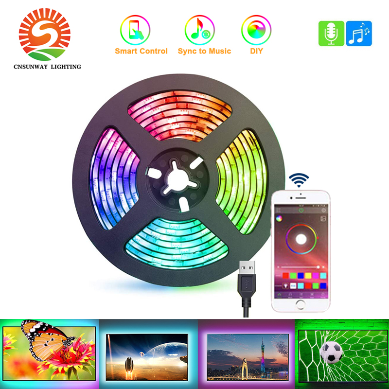 3M TV LED Backlights 9.8ft LED Strip Lights With Bluetooth APP Control For 46-60 Inch TV 16 Million Colors Music Sync Changing