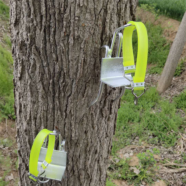 Stainless Steel Five Claws Tree Climbing Tools Pole Climbing Spikes 100kg load capacity for Hunting Observation Picking Fruit