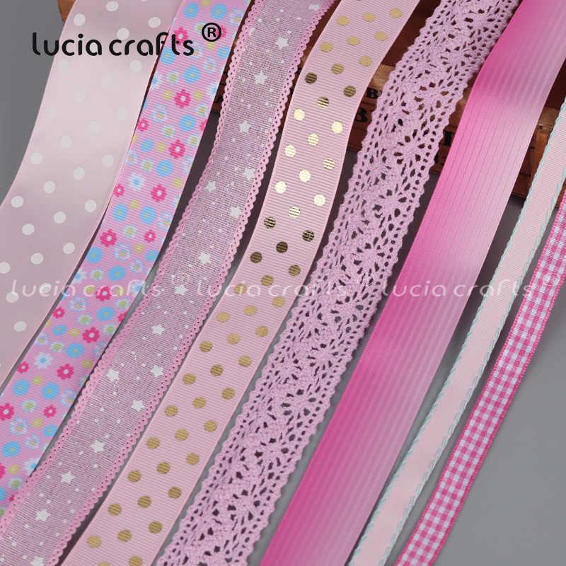 1 ярд Печатный розовый корсаж атласная органза ленты точка сетка лента кружева DIY лук Ремесло швейная одежда свадебное украшение 040044140