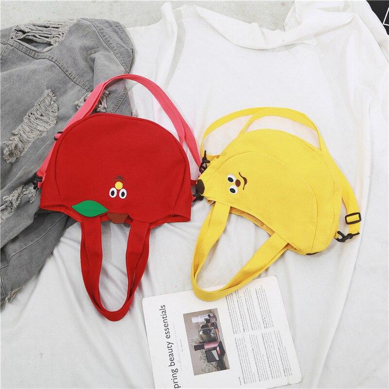 Women Mini Crossbody Bags Red Apple Bag Lovely Girls Messenger Bags With Leaves