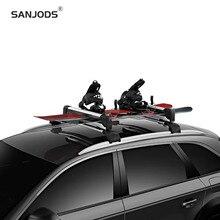 цена на SANJODS Ski Board Carrier For Car Roof Rack Sleek Aerodynamic Ski Rack For All Types Of Skis And Snowboards