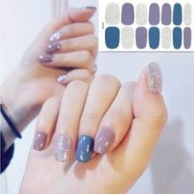 2019 Korea Designed Full Wraps Shiny Nail Art Sticker Decals Multicolor Nail Stickers Strips DIY Salon Manicure Drop Ship