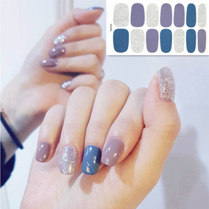 Image 1 - 2019 Korea Designed Full Wraps Shiny Nail Art Sticker Decals Multicolor Nail Stickers Strips DIY Salon Manicure Drop Ship
