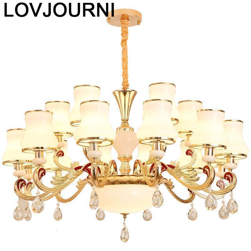 Lamp Lustre E Pendente Para Sala De Jantar Cuisine Modern Lampara Colgante Loft Crystal Light Luminaria Deco Maison Hanglamp