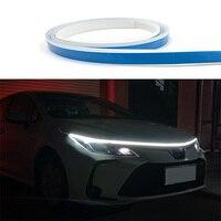 Luz Blanca larga tira a través de tipo LED auto frontal modificado faro brecha Actualización de coche con luces de circulación diurna