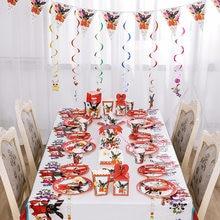 Binging coelho decorações de aniversário fontes de festa descartáveis pratos de copo de papel palhas de toalha balões crianças presente do bebê
