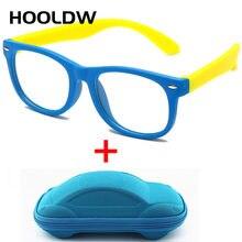 HOOLDW – lunettes Anti-lumière bleue pour enfants, monture optique pour garçons et filles, verres transparents en Silicone souple pour ordinateur, nouvelle collection