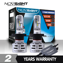 Novsight H7 LED H4 led H11 H8 HB3 9005 HB4 9006 Car LED Headlight Bulbs 60W 10000LM Automobile Headlamp Fog Lights 12V 24V
