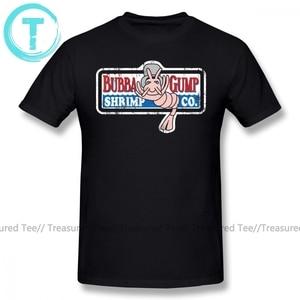 Image 1 - Forrest Gump T Shirt Bubba Gump T Shirt Print 4xl Tee Shirt Awesome Classic 100 Cotton Short Sleeves Men Tshirt