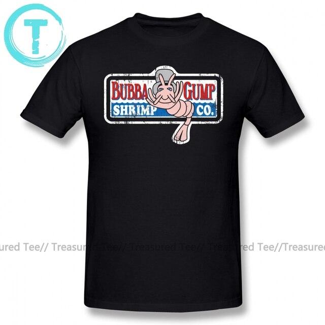 פורסט גאמפ T חולצה Bubba חולצה הדפסת 4xl טי חולצה מדהים קלאסי 100 כותנה קצר שרוולים גברים חולצת טי