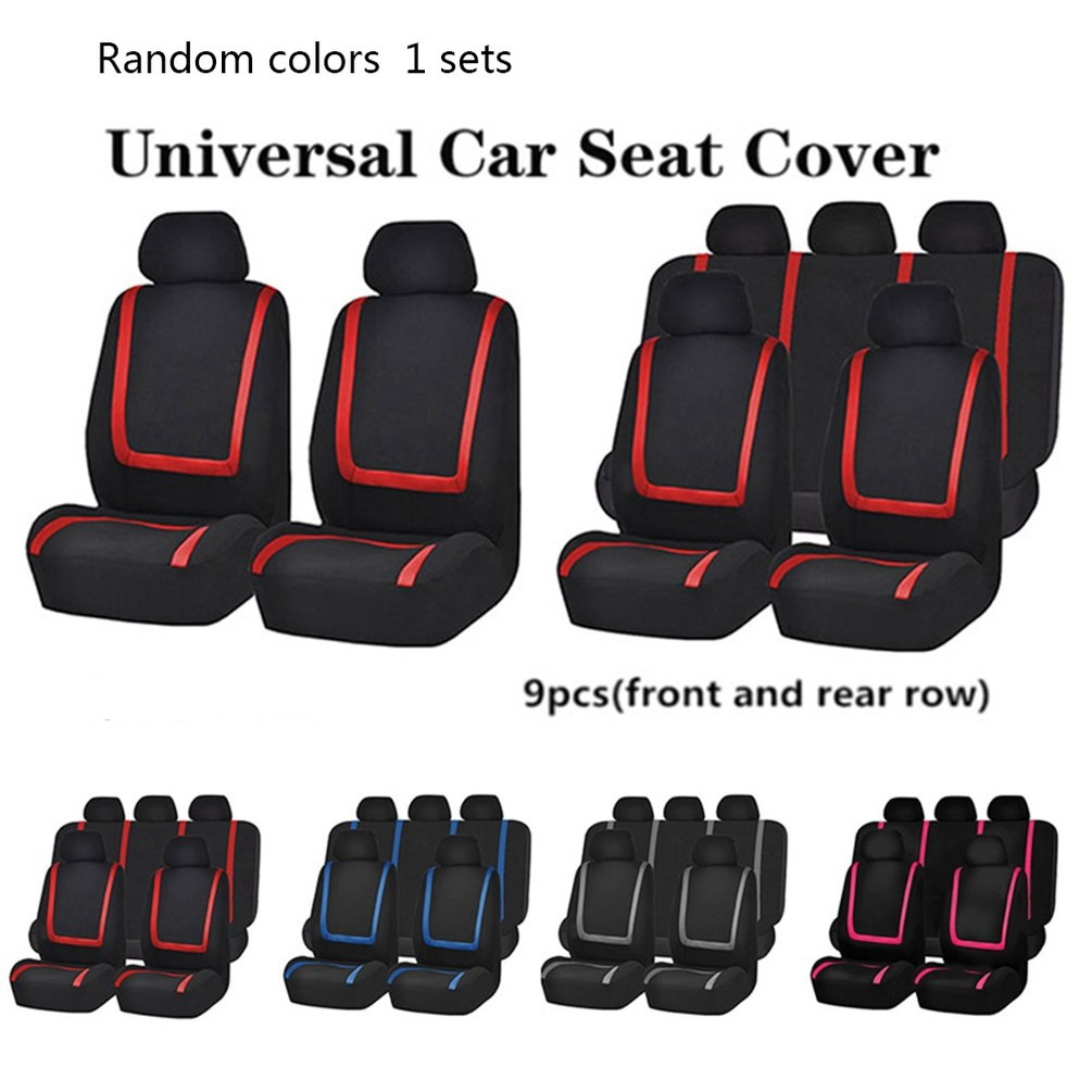 New 9 PCS Random Color Universal Car Seat Covers Auto Interior Styling Decoration Protect Universal Fit Interior Accessories
