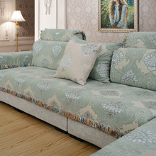 European style sofa towel sofa cushion, special lace four seasons universal sofa cushion four seasons universal european luxury sofa cushion linen non slip cushion sofa cover