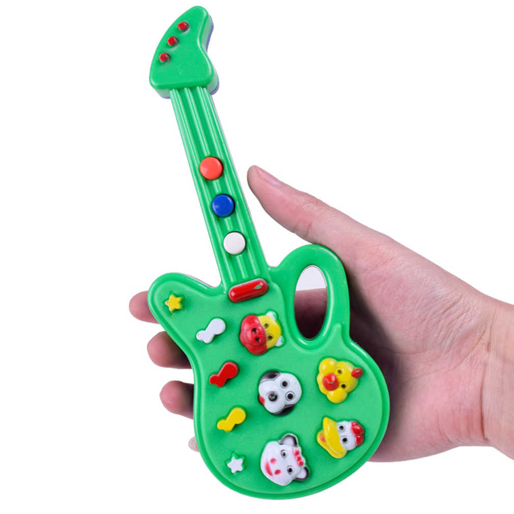 ร้อน! ไฟฟ้ากีตาร์ของเล่นเด็กเนอสเซอรี่ Rhyme เพลงพลาสติกจำลองกีตาร์เด็กทารกที่ดีที่สุดของขวัญสีสุ่ม