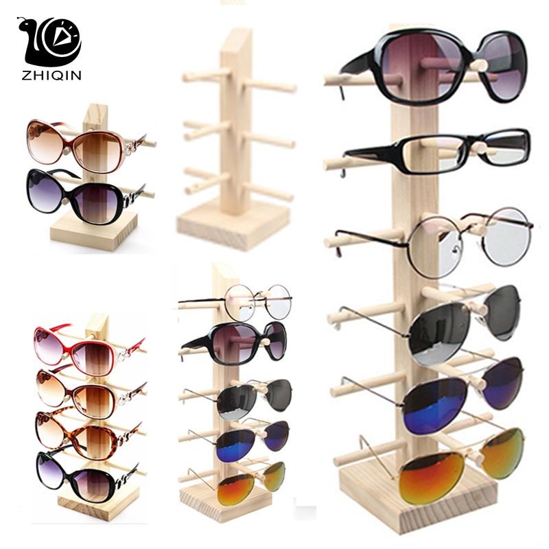 2~6 Layers Wood Sunglass Display Rack Shelf Glalsses Storage Eyeglasses Show Stand Jewelry Holder Multi Pairs Glasses Showcases