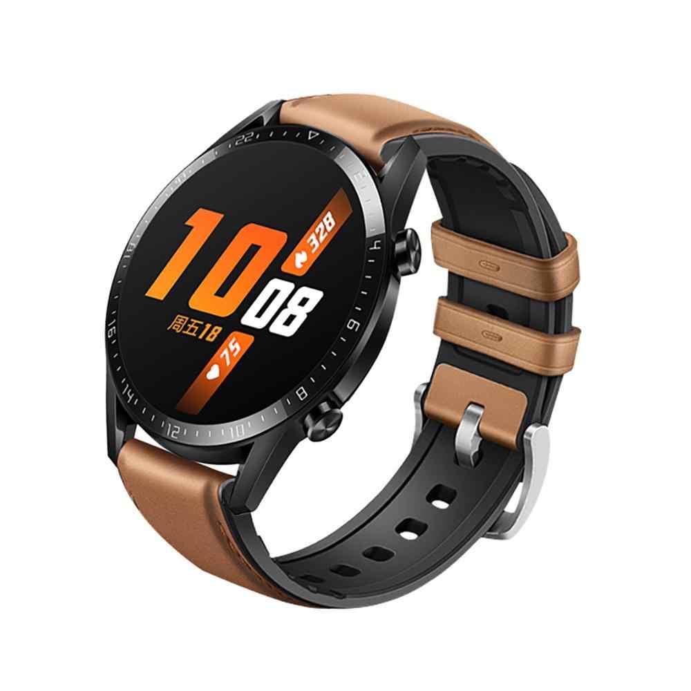 Bracelet de montre de bracelet de bracelet de rechange d'acier inoxydable de Silicone pour la montre de Huawei GT2 46mm bracelet de montre de rechange de Sport