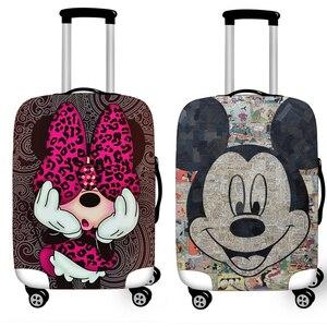Эластичный Защитный чехол для багажа, чехол для костюма, защитный чехол, чехол на колесиках s, чехлы Xl, аксессуары для путешествий, 3D, Минни, М...