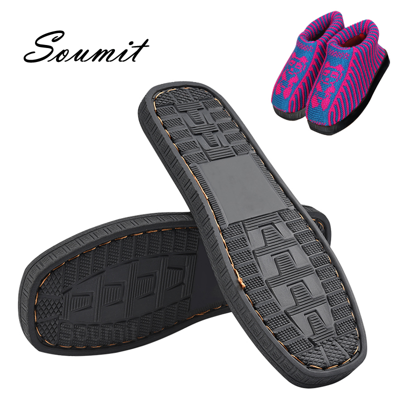 Soumit DIY Hand Knitting Materials Slippers Rubber Outsoles For Shoes Anti-Slip Crochet Needles Indoor Slippers Sole