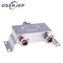 2 דרך N 1 ב/כדי 2 כוח מפריד ספליטר 380 ~ 2500MHz עבור GSM CDMA 3G מגבר אות, להתחבר אנטנה פנימית אנטנה חיצונית
