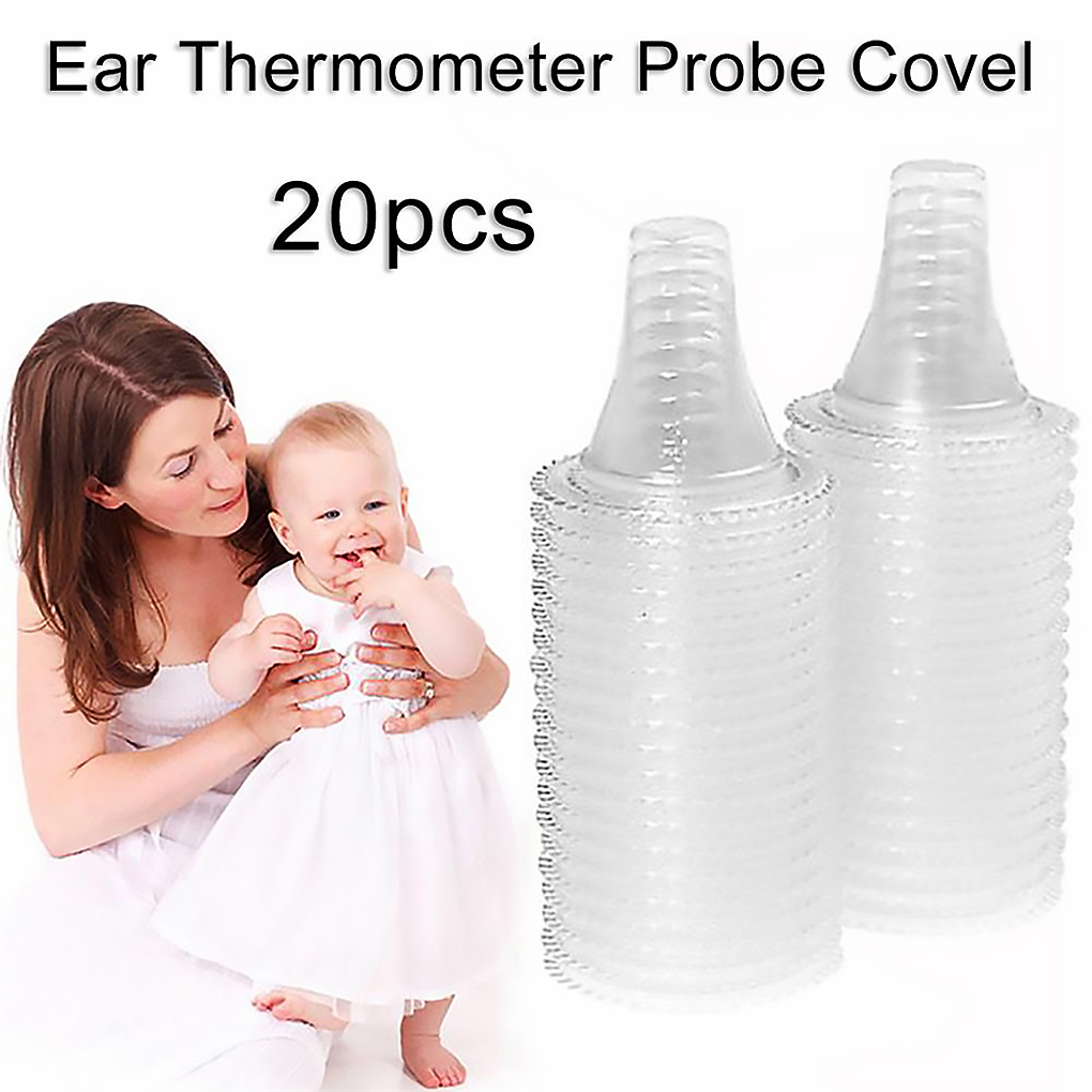 20pcs Digital Ear Thermometer Probe Cover Disposable Thermometer PP Lens Filter For Braun