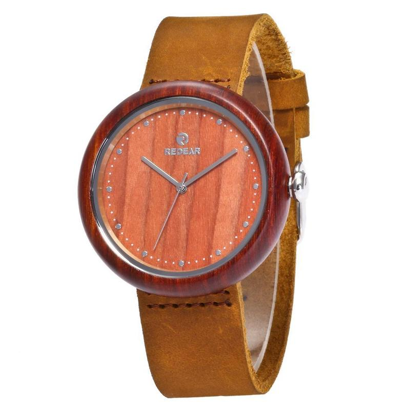 2017 New Style Wooden Watch Authentic Leather Watch Amazon Wish A Substituting Wood
