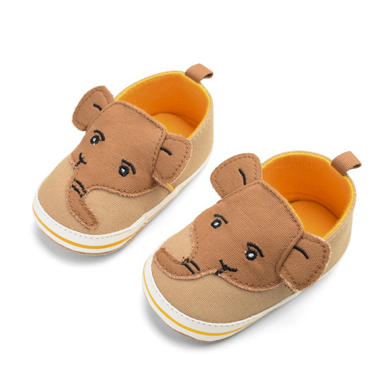 Baby Boys Girls Breathable Cartoon Elephant  Pattern Anti-Slip Shoes Sneakers Toddler Soft Soled First Walkers