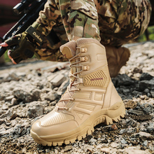 New Men Tactical Military Boots Winter Leather Waterproof Mountain Desert Combat Army Work Shoes Mens Ankle Boot Man Plus Size все цены