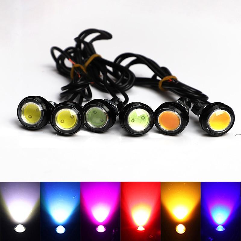 ONEVER 2 Pack Eagle Eye LED Reverse Backup Light Motorcycle Fog Lamp DC 12V 5W Car-Styling DRL Daytime Running Light Cool White Bulb