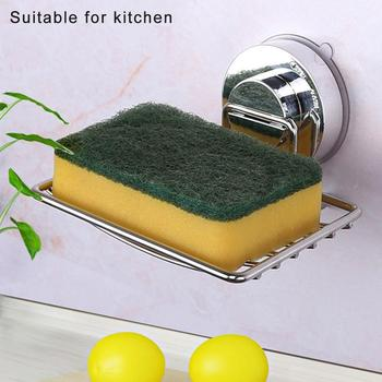Silver Bathroom Vacuum Suction Cup Soap Holder Cup Box Dish Soap Storage Saver Shower Tray Bathroom Accessories цена 2017