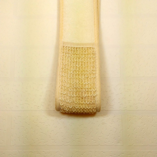 Flax Cotton Soft Exfoliating Back Strap Bath Brush Shower Massage Spa Scrubber Sponge Body Skin Health Cleaning MPwell 3
