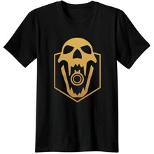 Tom Clancys Rainbow Six Siege Logo Skulls Men Tees T Shirts Video Game Gaming Black Beard rainbow 6 R6 Casual COOL Novelty Tops(China)