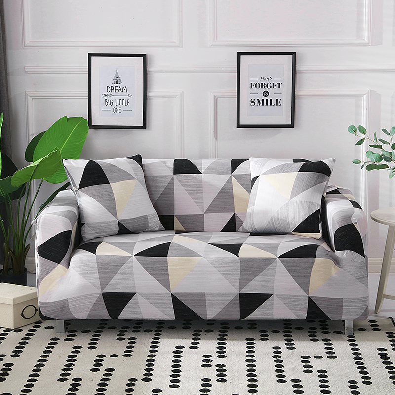 Image 5 - 1/2 pieces Geometric Couch Cover Stretch Slipcovers Set Elastic Sofa Cover for L Shaped Sectional Corner Chaise Longue SofaSofa Cover   -