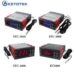 STC-3008 STC-1000 3018 KT1000 Digital Temperature Controller Incubator Thermostat Thermoregulator Heating Cooling 12V 24V 220V