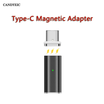 CANDYEIC TYPE-C Magnetic Adapter For Android Samsung S10 Huawei Mate 30 Charger, USB C Magnetic Charging For Xiaomi Redmi Charge