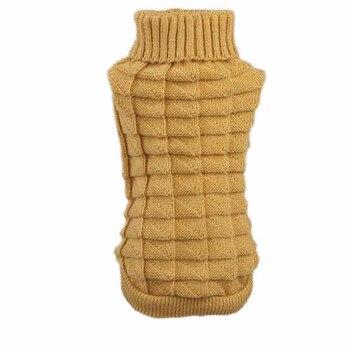 Ropa para perros Otoño Invierno mascota suéter para perros de lana tejido ropa para cachorros cálido tejido de lana abrigo para perros paño para mascotas flores de cáñamo