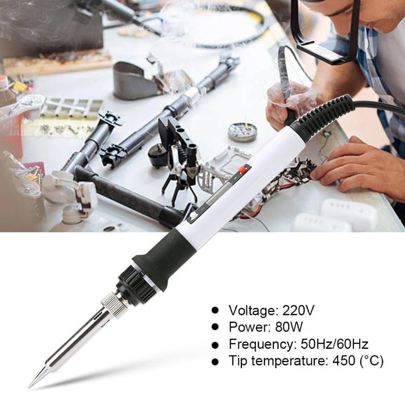 Electric Soldering Iron Temperature Adjustable 220V 80W Soldering Iron Welding Pen Solder Iron Rework Station Soldering Iron