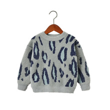 лучшая цена Fashion Leopard Baby Girls Sweaters Kids Clothing O-Neck Sweater Clothes For Girl Knitted Wear Pullover Warm Jumper