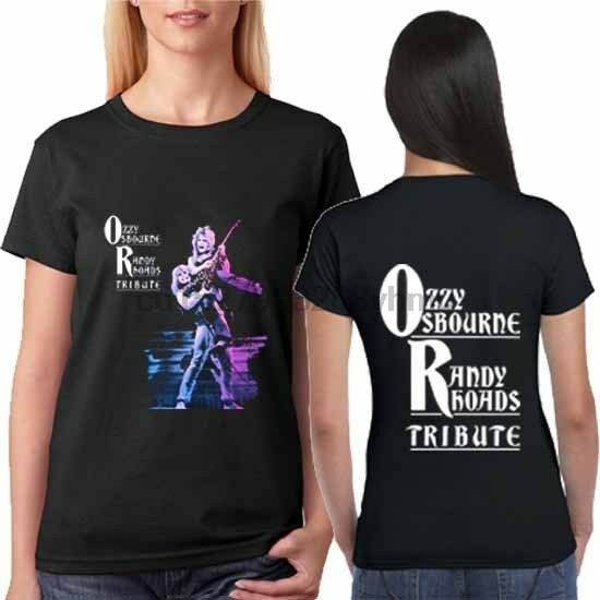 Ozzy Osbourne <font><b>Randy</b></font> <font><b>Rhoads</b></font> Tee Tshirt Two Sides New T-Shirt For Womens image