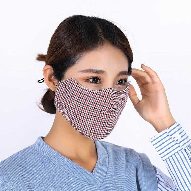 4pc Winter Mask Cotton PM2.5 Mouth Mask Anti Dust Mask Washable and Reusable Windproof Mouth-muffle Face Masks for Men and Women 2