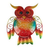 Animal Metal Owl Wall Artwork for Garden Decoration Outdoor Statues and Accessories Sculptures for Home Decoration