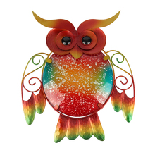 Get more info on the Liffy Christmas Metal Glass Owl Wall Decor for Home and Garden Decoration Statues Outdoor Decor Garden Ornaments Wall Moldings