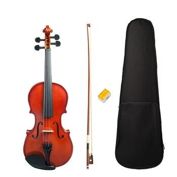 New 3/4 Violin Highlight Finishing Violin Student Violin Set Violin Learner Natural Color Violin