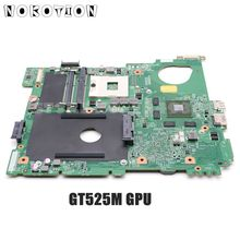 NOKOTION CN 0J2WW8 0J2WW8 MAIN BOARD For Dell inspiron N5110 Laptop Motherboard HM67 DDR3 GT525M 1GB