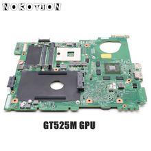 Nokotion CN 0J2WW8 0j2ww8 placa principal para dell inspiron n5110 computador portátil placa mãe hm67 ddr3 gt525m 1 gb