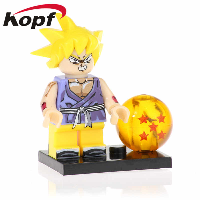 Venda única de Aprendizagem De Dragon Ball Z Figuras de Ação Goku Sun Wufan Preto Rosa Blocos de Construção de Brinquedos Presentes Crianças PG1379 Gotenks