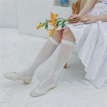 Кружевные высокие носки в стиле ретро Лолита женские сетчатые